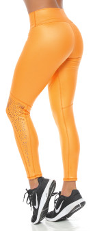 Protokolo Donna Laser Leggings In Orange