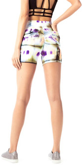 Vestem Purple Tie Dye Booty Pocket Shorts