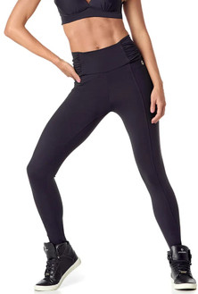 Vestem Black Pleated Waistband Legging