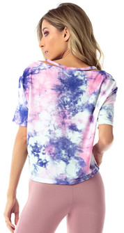 Vestem Color Tie Dye Short V Tee