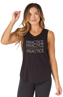 Glyder Apparel Practice Gratitude Mood Tank In Black