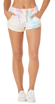 Glyder Apparel Powder Short In Rainbow Tie Dye