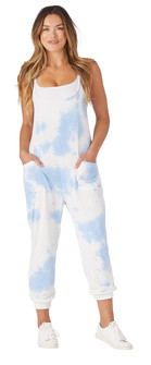 Glyder Apparel Effortless Jumpsuit Blue Tie Dye