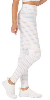 Glyder Apparel Sultry Legging In White Rainbow Stripe