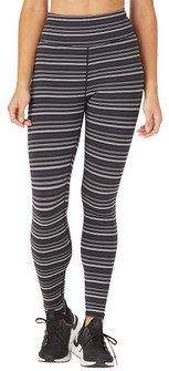 Glyder Apparel Sultry Legging In Black-Gray-White Stripe