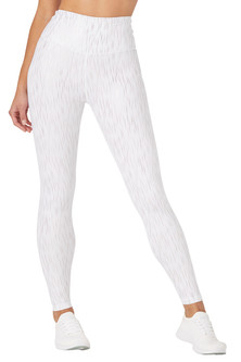 Glyder Apparel Sultry Legging In White-Rose Gold