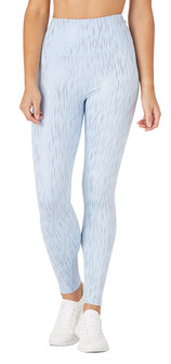 Glyder Apparel Sultry Legging In Ice Blue-Silver