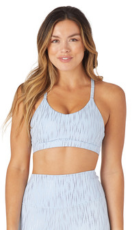 Glyder Apparel Vitality Bra In Ice Blue-Silver