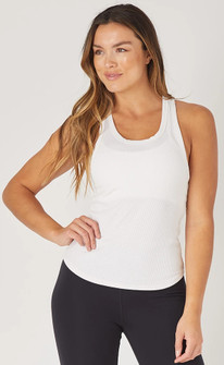 Glyder Apparel Strength Tank In White
