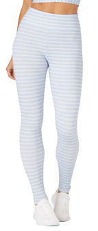 Glyder Apparel Sultry Legging In Ice Blue-White Stripes
