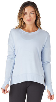 Glyder Apparel Lounge Long Sleeve In Ice Blue