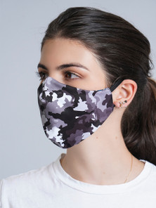 Protokolo Black Camo Reversible Face Mask