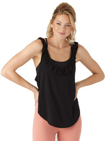 Glyder Apparel Sacral Tank In Black