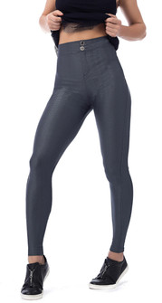 Vestem Gray Textured High Waist Legging