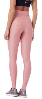 Vestem High Rise Zig Zag Legging In Pink