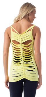 Vestem Sliced Tank Top in Yellow
