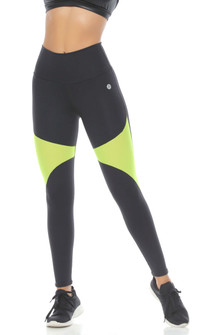 Protokolo Winnie Legging In Black and Neon Green
