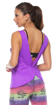 Protokolo Pearl Tank Top In Purple