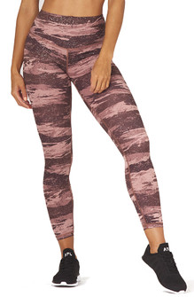 Glyder Apparel Sultry Legging In Cocoa Distressed Camo