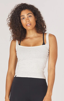 Glyder Apparel Comfort Tank In Oatmeal