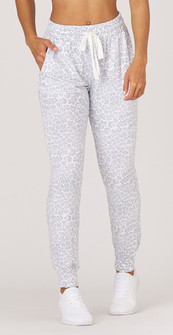 Glyder Apparel Halfway Jogger In Ice Leopard Print