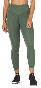 Glyder Apparel High Waist Pure 7/8 In Olive