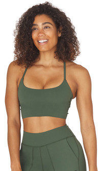 Glyder Apparel Pure Bra In Olive
