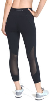 Mono B Back Mesh Panel Capri Leggings