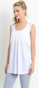 Mono B Side Slit Tank In White