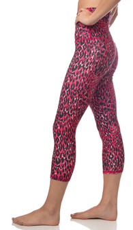 Emily Hsu Designs Destiny Capri Red Leopard