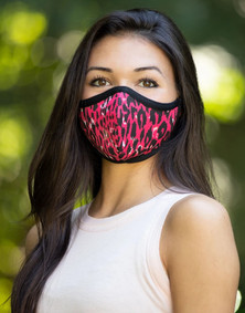 Emily Hsu Designs Destiny Red Leopard Together Mask