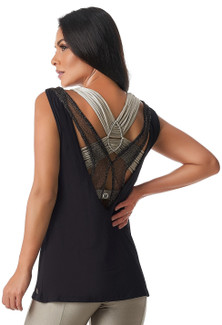 Vestem Fancy Tank Top In Black