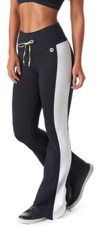 Vestem Comfort Flare Pant in Black/White