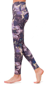 Onzie Purple Marble High Rise Legging