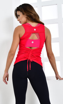 Protokolo Mesh Velda Top in Red