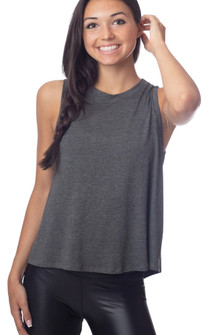 Emily Hsu Designs Lucy Tie Back Tank In Charcoal