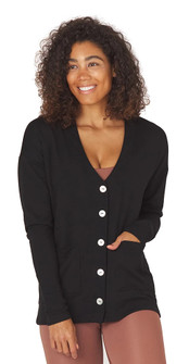Glyder Apparel Lounge Cardigan in Black
