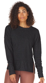 Glyder Apparel Shaker Knit Pullover in Black