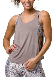 Onzie Flow Tone Tank in Champagne