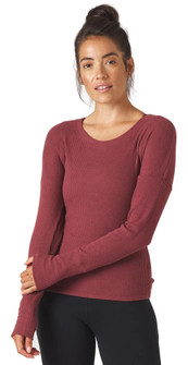 Glyder Apparel Comfort Long Sleeve in Merlot