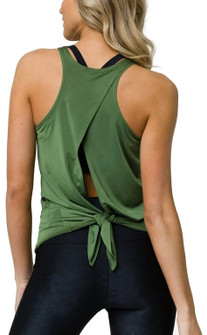 Onzie Olive Hot Yoga Tie Back Tank