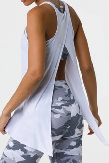 Onzie White Hot Yoga Tie Back Tank