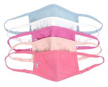 Sol and Selene Assorted Cotton Face Masks - 5 Piece Pack - Fiji/Blush/Light Blue/Pink/White