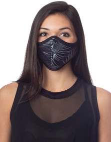 Emily Hsu Designs Palms Foil In Blue Ice Mask