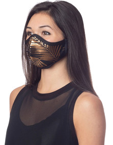 Emily Hsu Designs Palms Foil In Gold Mask