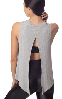 Emily Hsu Designs Lucy Tie Back Tank In Heather