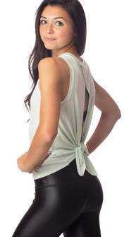Emily Hsu Designs Lucy Tie Back Tank In Mint