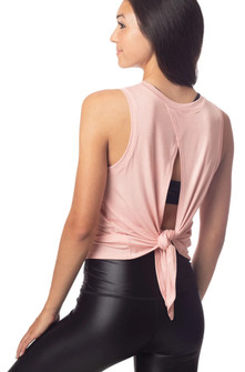 Emily Hsu Designs Lucy Tie Back Tank In Hyacinth