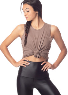 Emily Hsu Designs Sunday Tank In Mocha