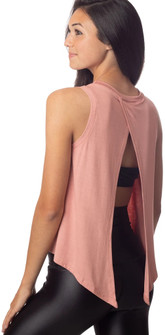 Emily Hsu Designs Lucy Tie Back Tank In Dusty Pink